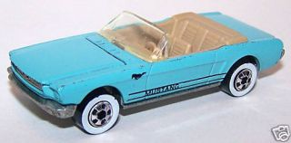 Hot Wheels 1987 65 Mustang Convertible Blue Whitewall