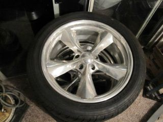 Boyd Coddington Junk Yard Dog Wheels 18x8 Set with Dunlop Tires 5x4 5