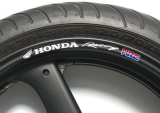 Honda Racing HRC Wheel Rim Decals Fireblade CBR VFR VTR