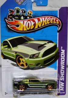 Hot Wheels 2013 HW Showroom 10 Ford Shelby GT500 Supersnake Super
