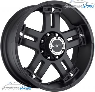 18x9 V Tec Warlord 8x180 12mm Matte Black Wheels Rims inch 18