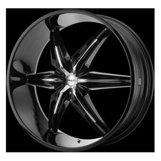 20 Helo 866 Wheel Set Rims Black Chevy Dodge Nissan Mercedes BMW 5LUG