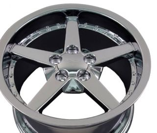 18 Rims Fit Corvette C6 Deep Chrome Wheel 18 x 10 5