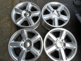Factory Chevy Tahoe LTZ Silverado 20 Polished Wheels Rims GMC