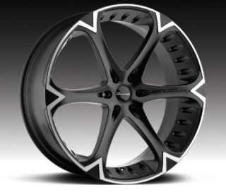 26 inch Giovanna Dalar Wheels Cadillac Escalade Black