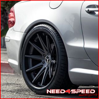 E350 E550 E63 Rohana RC10 Black Concave Staggered Wheels Rims