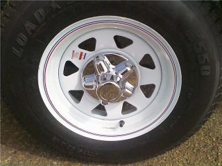 Chrome Trailer Wheel Hub Cap Covers Sharp 8 15