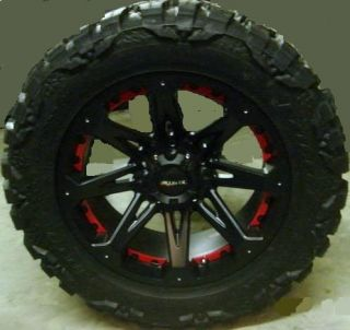 20 Ballistic Jester Rim Tire Nitto Mud Grappler 37