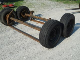Pair of Trailer Axles 8 Lug 16 5 Wheels Electric Brake Flatbed