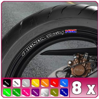 Honda Racing HRC Wheel Rim Stickers Fireblade CBR VFR