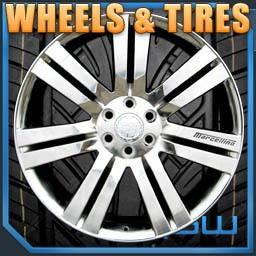 24 inch High Polish Wheels with Tires GMC Chevrolet Rims