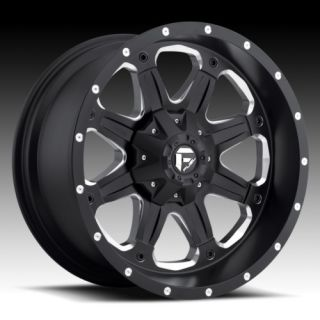 Boost 20 inch Black with Tires Chevy Dodge Ford XD Truck Rims