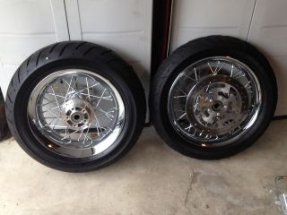 Profile Chrome Spoke Wheel Rim Set Road King Street Glide HD 2