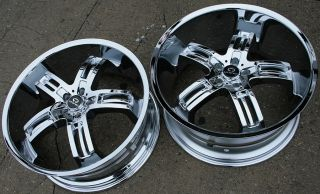 Lorenzo WL026 22 Chrome Rims Wheels Chrysler 300 300C V6 V8