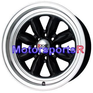 16 16x7 XXR 513 Black Machine Rims Wheels Deep Dish Lip Stance 4x100