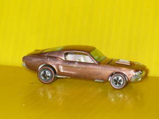 Redline Hot Wheels Custom Mustang Copper, w/ White intirior Rare car