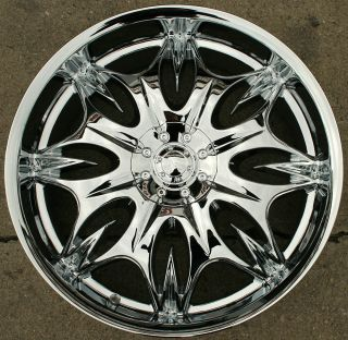 Incubus Jinx 716 20 Chrome Rims Wheels Benz S430 S500 20 x 8 5 5H 35