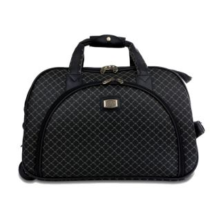 Rioni Signature Rolling Carry on Duffel Bag Signature Black