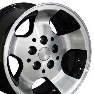 15 Rim Fits Jeep Wrangler Wheels Black 15x8 Set