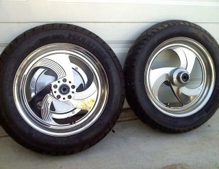 Performance Machine 16 Mag Billet Wheels Rims Matching Pulley