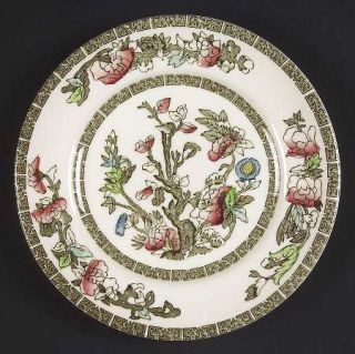 Johnson Brothers Indian Tree (Green Key, Cream) Dessert/Pie Plate, Fine China Di