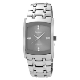 Armitron Mens Stainless Steel Watch With Dark Silver Dial