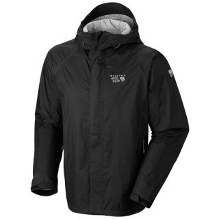 Mountain Hardwear Sirocco Rain Jacket   Waterproof (For Men)   BLACK/BLACK (M )