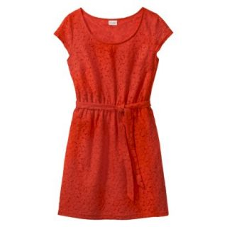 Merona Womens Lace Sheath Dress   Orange Zing   XL