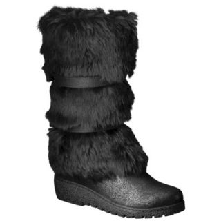 Girls Cherokee Fairley Faux Fur Boot   Black 13