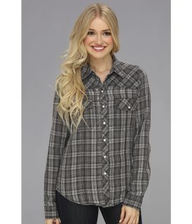 Roxy Saddleback Longsleeve Shirt Womens Long Sleeve Button Up (Black)