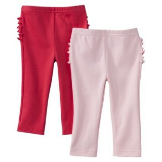 Just One YouMade by Carters Newborn Girls 2 Pack Pant   Pink/Red 6 M