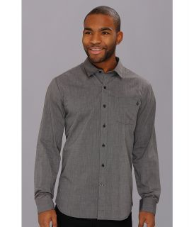 Volcom Weirdoh Solid L/S Shirt Mens Long Sleeve Button Up (Black)