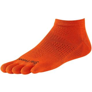 SmartWool PhD Run Toe Socks   Merino Wool  Ankle  Ultralight (For Men and Women)   SILVER (S )