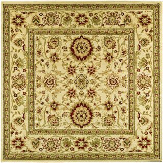 Lyndhurst Collection Majestic Ivory/ Ivory Rug (8 Square)