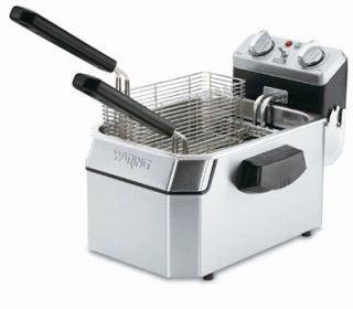 Waring Countertop Single Deep Fryer w/ 15 lb Capacity & 3 Baskets, Timer, 240V