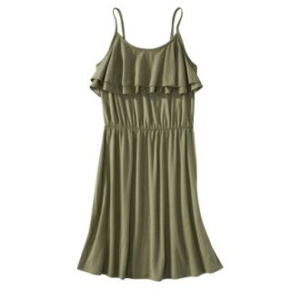 Mossimo Supply Co. Juniors Ruffle Front Dress   Tanglewood Green M(7 9)