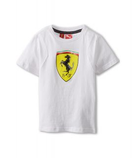 Puma Kids Ferrari Tee Boys T Shirt (White)