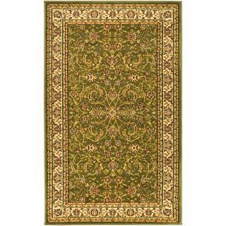 Lyndhurst Collection Sage/ Ivory Rug (6 X 9) (GreenPattern OrientalTip We recommend the use of a non skid pad to keep the rug in place on smooth surfaces.All rug sizes are approximate. Due to the difference of monitor colors, some rug colors may vary sl