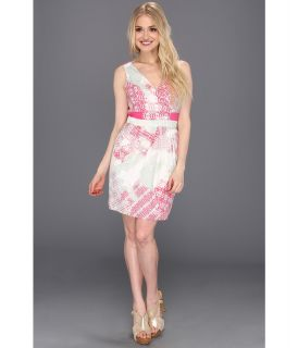 Jessica Simpson Print Sleeveless Dress with Open Back Detail Womens Dress (White)