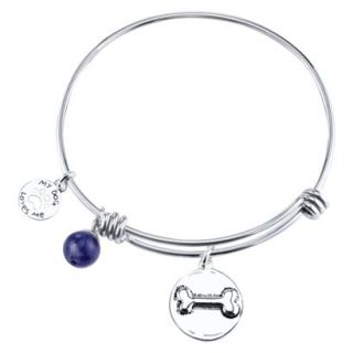 Stainless Steel Expandable Bracelet Dog   Silver
