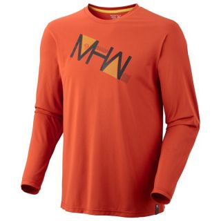 Mountain Hardwear MHW Angle Tech Shirt   UPF 30  Long Sleeve (For Men)   AUTUMN ORANGE (L )