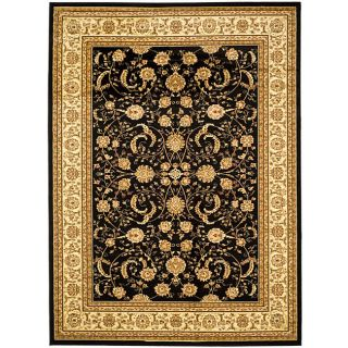 Lyndhurst Collection Black/ivory Rug (8 X 11)