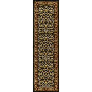 Lyndhurst Collection Majestic Black/ Red Runner (23 X 8)