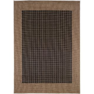 Couristan Recife Checkered Field Black Cocoa Rug 1005/2000X Rug Size 76 x