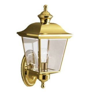 Kichler 9712PB Outdoor Light, Classic (Formal Traditional) Wall 1 Light Fixture Polished Brass