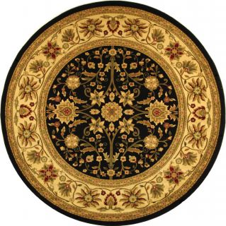 Lyndhurst Collection Majestic Black/ Ivory Rug (5 3 Round) (BlackPattern OrientalMeasures 0.375 inch thickTip We recommend the use of a non skid pad to keep the rug in place on smooth surfaces.All rug sizes are approximate. Due to the difference of moni