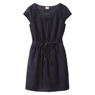 Merona Womens Lace Sheath Dress   Xavier Navy   S