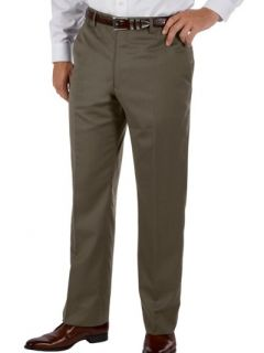 Paul Fredrick Mens 100% Wool Gabardine Flat Front Pants