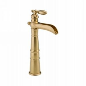 Delta Faucet 754LF CZ Victorian Single Handle Vessel Lavatory Bathroom Faucet