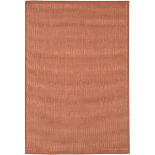 Couristan Recife Saddle Stitch/TerracottaNatural Rug 1001/4000 Rug Size Squa